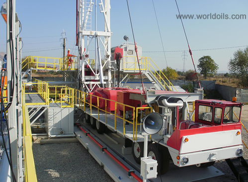 550HP Carrier Mounted Drilling Rig