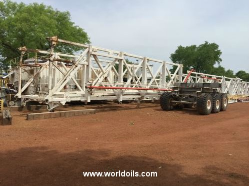 Trailer Mounted Telescopic Mast Triple Drilling Rig - 2001 Built