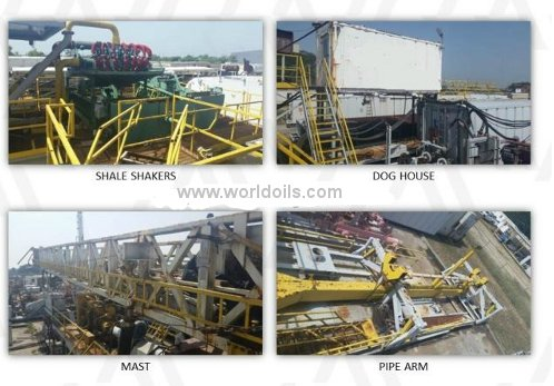 Used 1000hp MD Cowan Trailer Mounted Drilling Rig