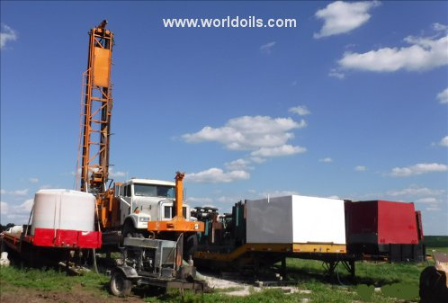 Used Schramm T660 Drill Rig & Sullair 1150/350 Package for Sale