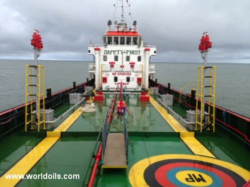 Self Propelled Oil Barge - 2013 Built - for Sale